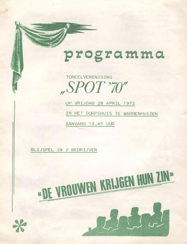 1972 – De Vrouwen krijgen hun zin